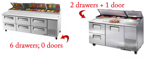 at we stock a number of different pizza prep table including true and turbo air when you buy a unit from any of these