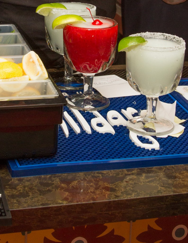 Frozen beverages await at the Viola's Ventanas bar.