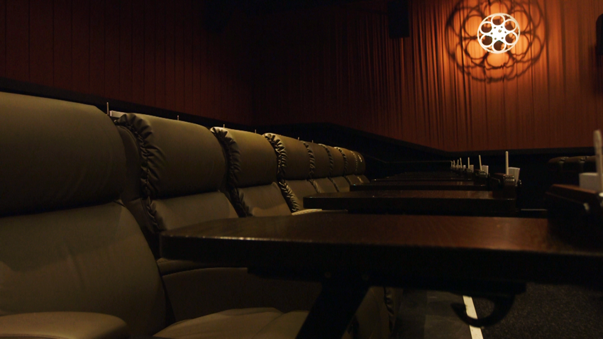 A peek inside a theater room at Alamo Drafthouse's new cinema in Austin's Mueller neighborhood.