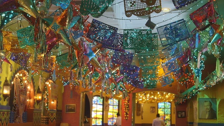 The decor at Mi Tierra is very festive and greets guests with a burst of color!