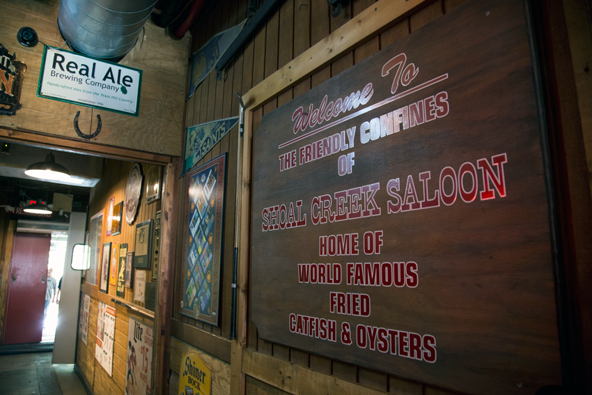 The welcoming interior - Home of World Famous Fried Catfish & Oysters.