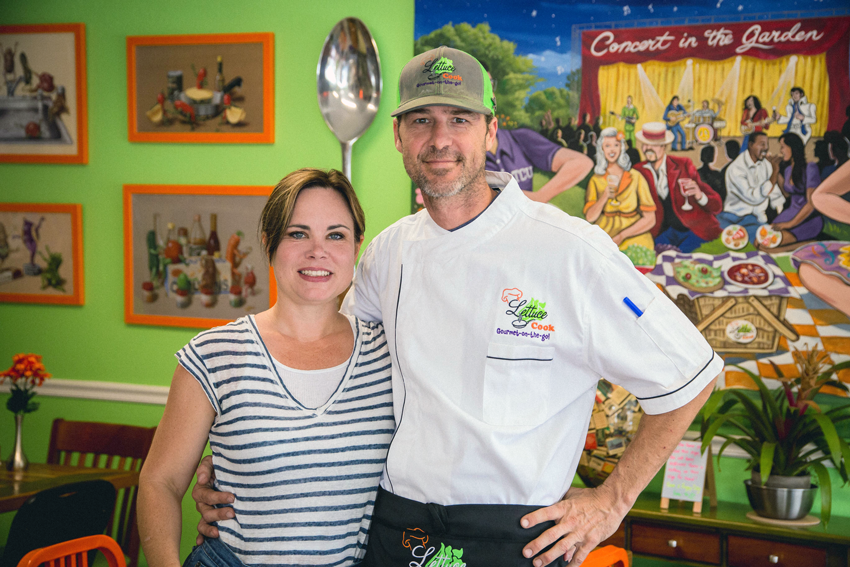 Todd and Natalie Brown are the proprietors of Lettuce Cook.