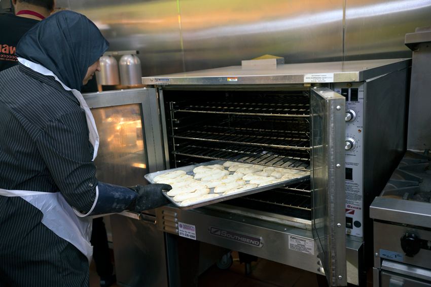 Fresh bread is made daily in the restaurant's commercial Southbend ovens.