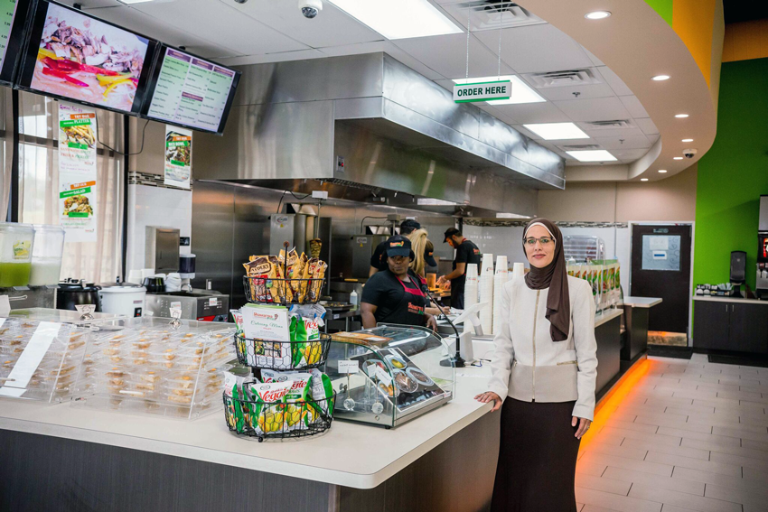 Sawsan Abublan, the proprietor of Shawarma Press.