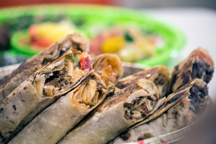 Assorted Shawarma Sandwiches ready to be served.