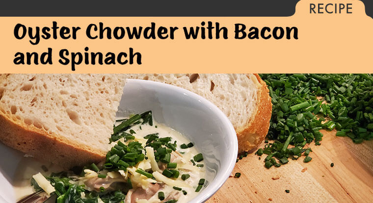 Recipe for Oyster Chowder for National Soup Month