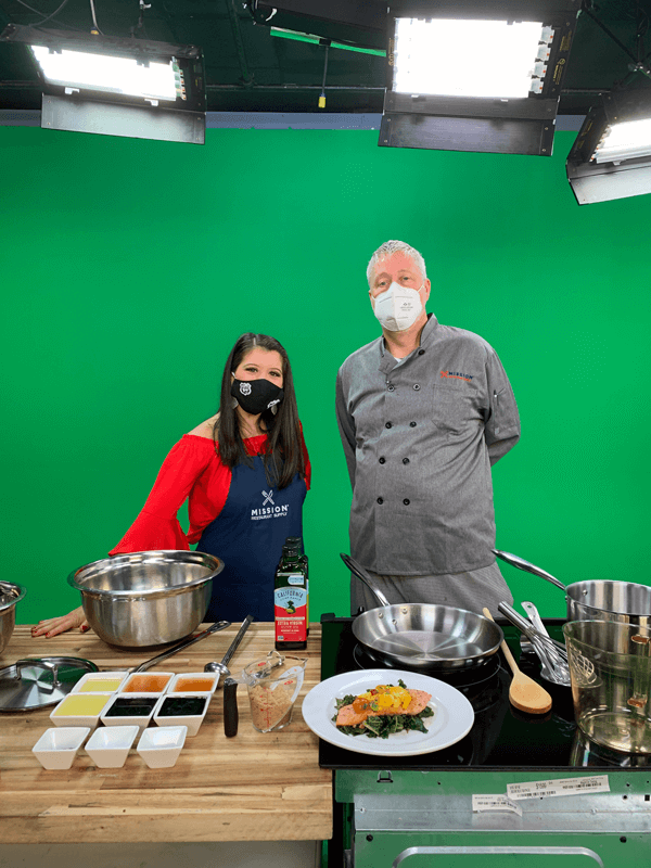 A.C. and Chef Thurman Love in the studio