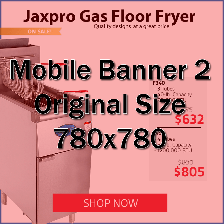 Jaxpro Gas Floor Fryers