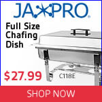 Jaxpro Full-Size Chafing Dish on sale. Shop now!