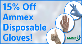 15% Off Ammex Disposable Gloves