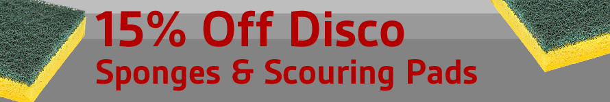 15% Off Disco Sponges & Scouring Pads