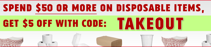 Spend $50 or More on Disposables, Get $5 Off With Code TAKEOUT